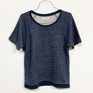 Everlane | Crewneck Short Sleeve Sweatshirt Blue